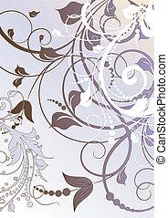Floral background in ppastels