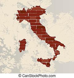 Italy wall map