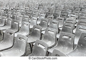 Empty theater - Grey seats in an empty theater