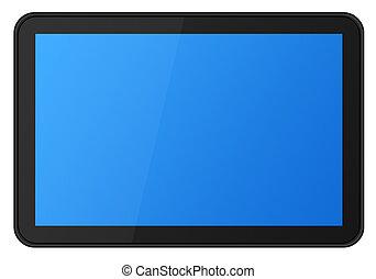 Toucher, écran, tablette, XXL