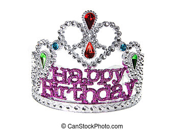 Birthday Crown on White Background
