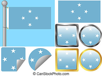 Flag Set Federated States of Micronesia