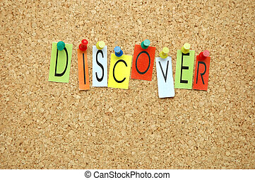Discover - Word Discover placed from colourful small letters...
