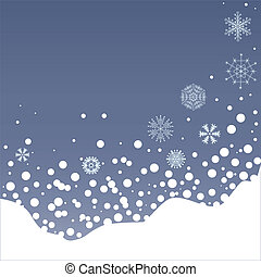 snowfall - illustration of snowfall on Christmas eve