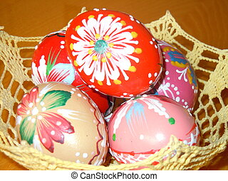 Hand crafted Easter eggs - traditional hand crafted Easter...