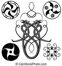 set of celtic patterns