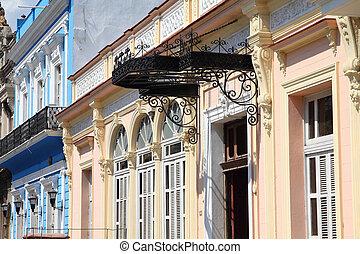 Matanzas, Cuba - city architecture. Decorative architecture...