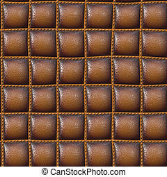upholster leather in brown - shinning brown leather...