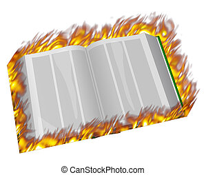 book on fire