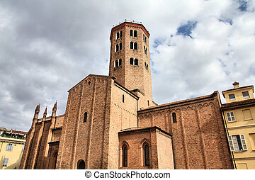 Piacenza - Church of Saint Antonino in Piacenza, Italy. The...
