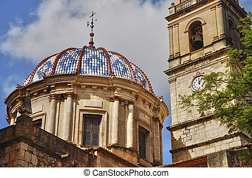 Church, Valencia - View of Church of Carcaixent, Valencia,...