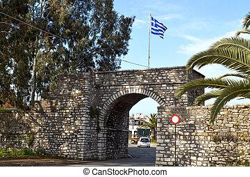 liberdade, portão, Mesologi, Grécia