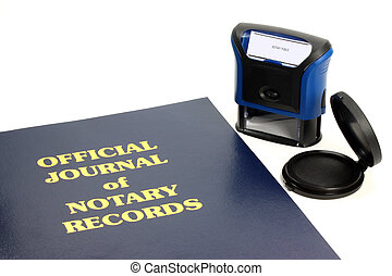 Notary Journal - Official notary journal and stamp