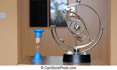 retro clock and pendulum in last time