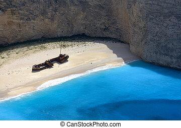 Zakynthos, praia, naufrágio