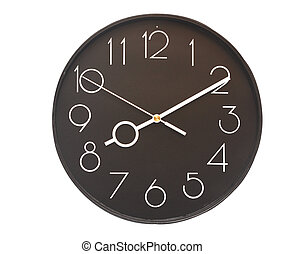 Wall clock - wall clock on the white background