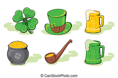 St. Patrick\'s Day icon set