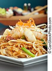 Seafood Pad Thai Dish