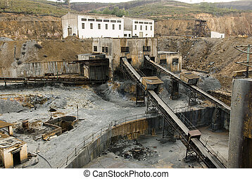 Abandoned facilities - Mining industry, Tharsis, Huelva,...