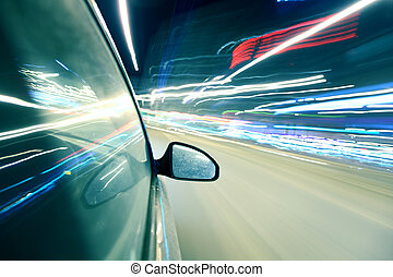 speed drive at night