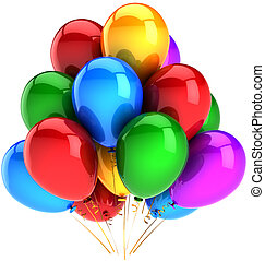 Balloons party decoration colorful