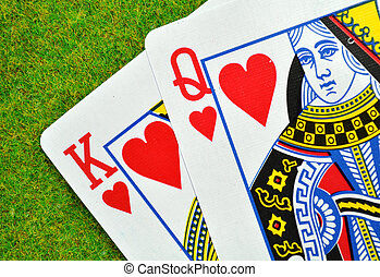 Marriage - King and Queen of hearts