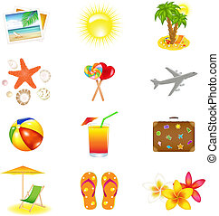 Vacation And Travel Icons - 12 Vacation And Travel Icons,...