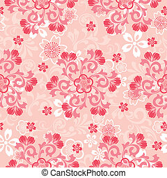 Abstract cherry blossoms pattern
