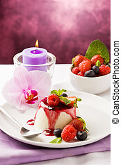 Panna Cotta with Berries - photo of delicious panna cotta...