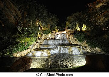 Falls and fountains at night - Falls and fountains A night...