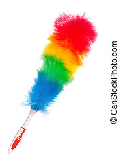 Colorful duster - Soft colorful duster with plastic handle...