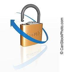 padlock - 3d padlock