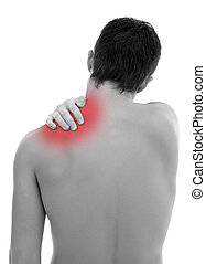Shoulder pain - Young man having pain in his shoulder