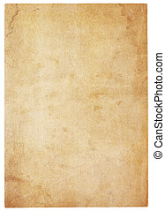 Very Old, Water-Stained Blank Paper - Aging, worn paper with...