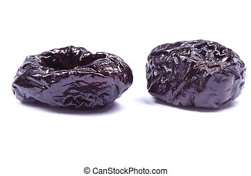 plum  - Dried plum on a white background