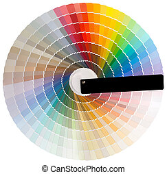 Colorful circle cutout - Colorful circle swatch with facade...