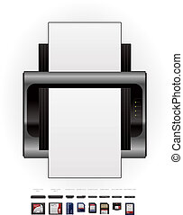 LaserJet Printer and Memory Cards - Medium Home Color Photo...