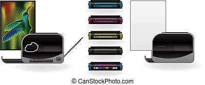 LaserJet Printer and Cartridges - Medium Home Color Photo...