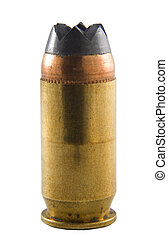 Ammo - Handgun cartridge that has a nasty looking bullet on...