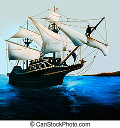 THE GOLDEN HIND - The Golden Hind is an English galleon best...