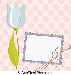 Cute template for Mother's Day postcard - Cute template for...