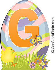 Cute initial letter G