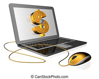 money - 3d illustration of dollar