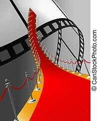 red carpet  - 3d illustration of red carpet