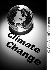 Climate Change - globe, concept of Global Climate Change...