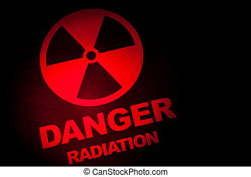radiación, peligro, señal