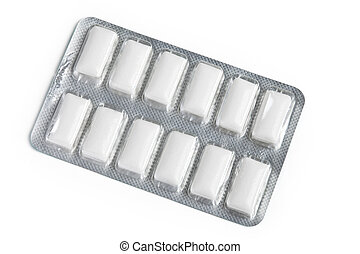 Chewing Gum with white background