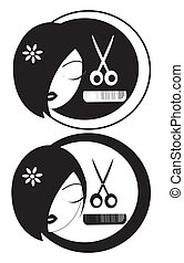 Hairdressing  - a black and white logo for hairstylers