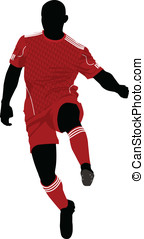 Soccer player - Vector illustration of a soccer player