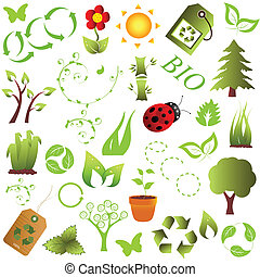 Eco and environment objects - Ecology and clean environment...